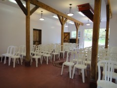 Ceremony setup inside former winery