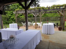 Outdoor reception at former winery