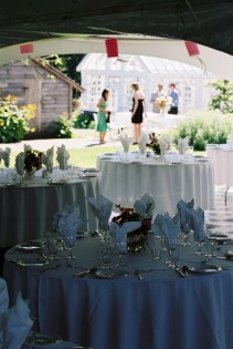 Summer wedding reception