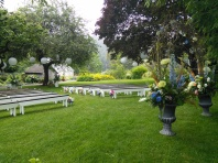 Summer ceremony on the lawn