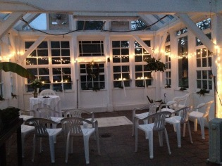 Intimate winter ceremony in the Conservatory