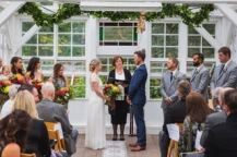 Ceremony in the conservatory